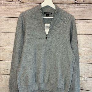 Michael Kors men's grey zip up sweater with logo
